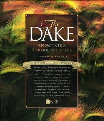 KJV Dake Annotated Reference Bible- Large Print